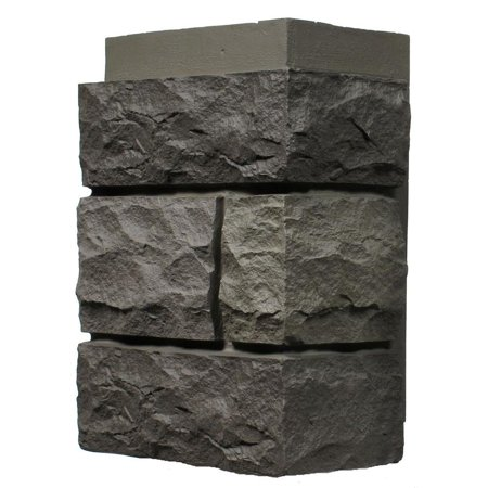 - NextStone™ Faux Polyurethane Stone Outside Corner Random Rock - Mountain Shadow