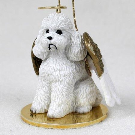 1 X Poodle, White, Sport Cut Tiny Ones Dog Angels (2 in), Each figurine is carefully hand painted for that extra bit of realism. By Conversation Concepts Ship from US