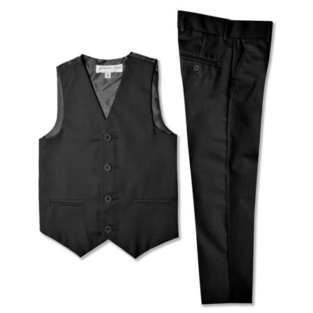 Johnnie Lene Boys Formal Vest And Pants Set JL42](Boys Linen Pants And Vest)