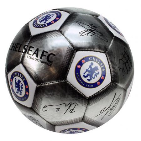 - Chelsea FC  - Silver Size 5 Ball With Team Signatures