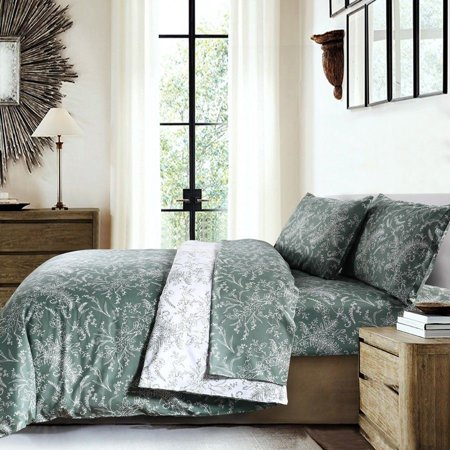 Elegant and Chic Winter Brush Reversible Soft 3-Piece Duvet Cover Set by Southshore Fine