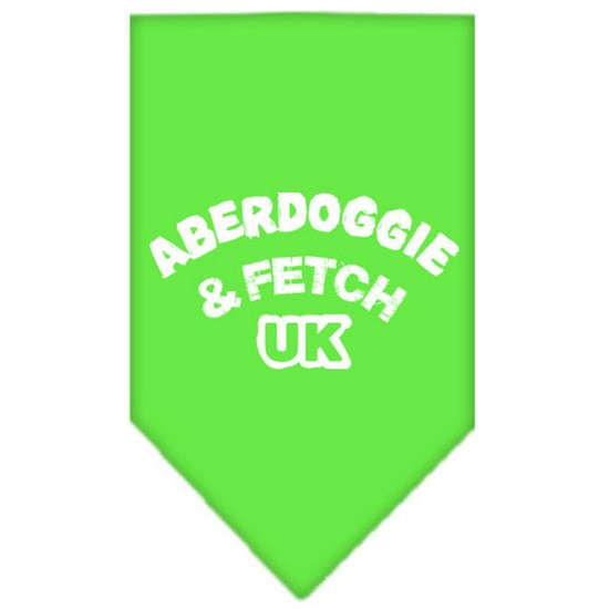Aberdoggie UK Screen Print Bandana Lime Green Large