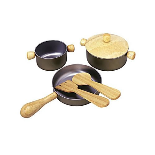 Pretend Play Cooking Pans and Utensils Set