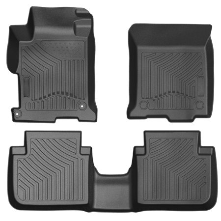 Car Floor Mats,3PCS Front & Rear TPE Mats for 2013-2017 Honda Accord Sedans All Weather Protection Custom Floor Liners Black