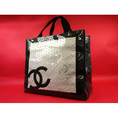 Chanel Translucent Clear Naked CC Perforated Tote Jumbo Tote 215436