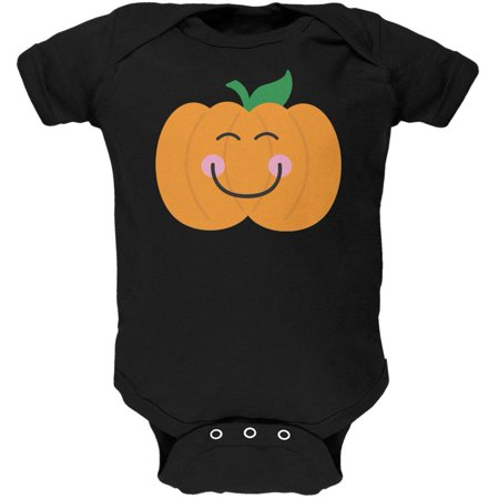Halloween Little Pumpkin Black Soft Baby One - Black Pumpkins Halloween