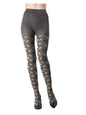 7ec6f6ebd1d03 Product Image MeMoi Pretty Kitties Sweater Tights | Women's Novelty Hosiery  M/L / Dark Gray Heather