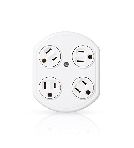 360 Electrical Revolve Basic 4 Outlet Rotating Adapter