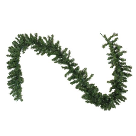"Northlight 9' x 10"" Prelit LED Battery Operated Canadian Pine Artificial Christmas Garland - Clear Lights"