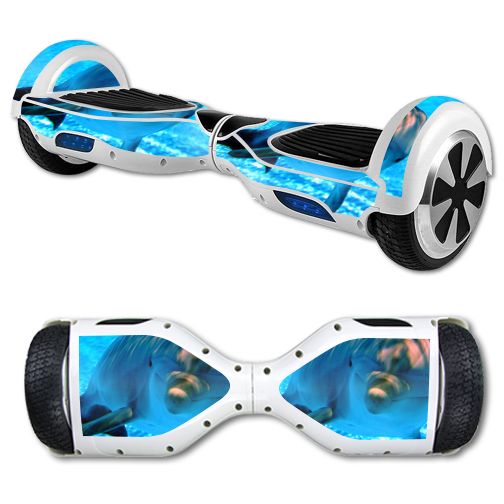 MightySkins Protective Vinyl Skin Decal for Hover Board Self Balancing Scooter mini 2 wheel x1 razor wrap cover sticker Dolphin