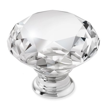 Cauldham Premium Glass Crystal Kitchen Cabinet Knobs Pulls 1 5 8 Diameter Dresser Drawer Door Hardware Style C444
