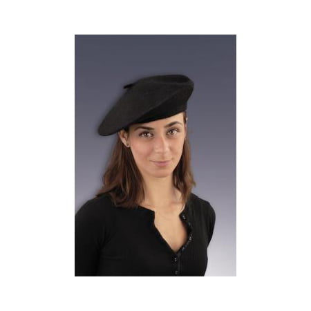 French Hood Hat (Black French Beret Hat Halloween Costume)
