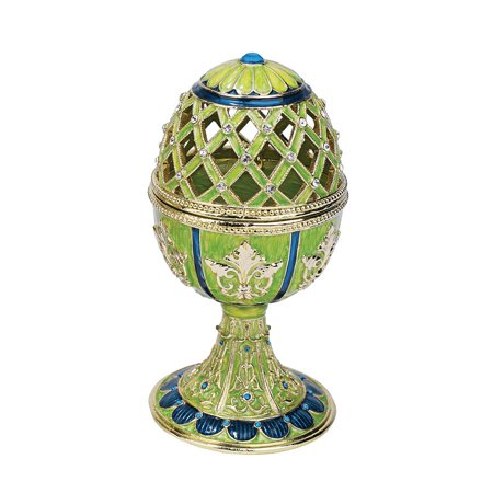 - Design Toscano Jeweled Trellis Collection Romanov Style Enameled Egg: Verte