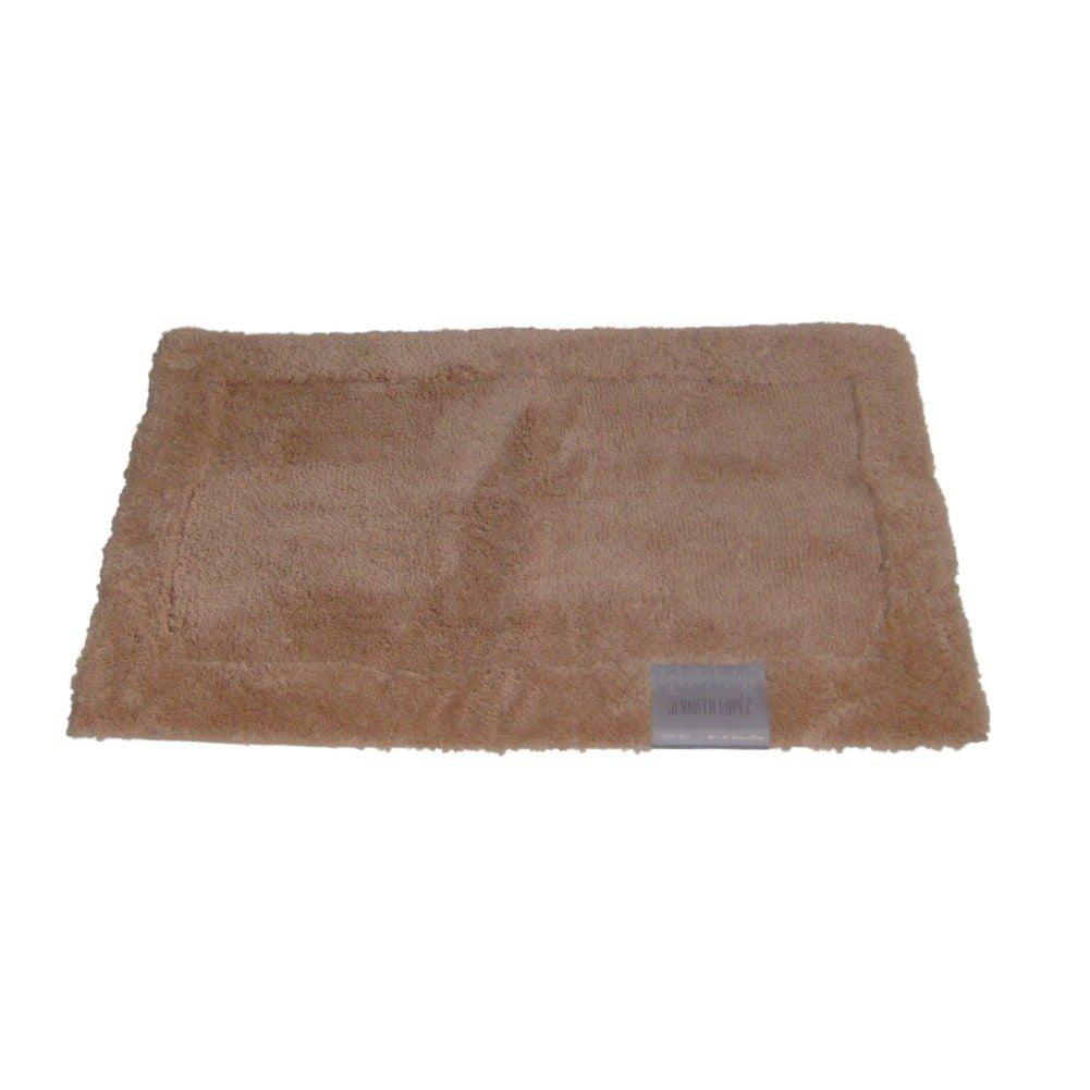 Jennifer Lopez Peach Plush Pile Accent Bath Rug 17x24 Skid Resistant
