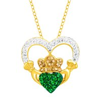 Crystaluxe Claddagh Pendant with Swarovski Crystals