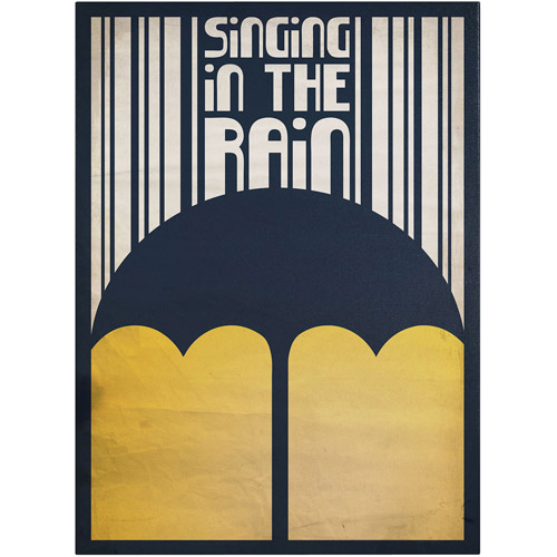 "Trademark Fine Art ""Singing in the Rain"" Canvas Art by Megan Romo"