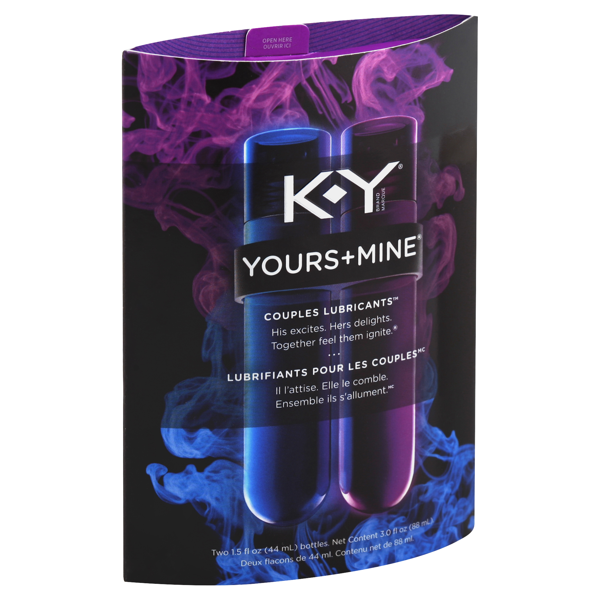K-Y Yours + Mine Couples Personal Lubricants, 3.0 Ounce