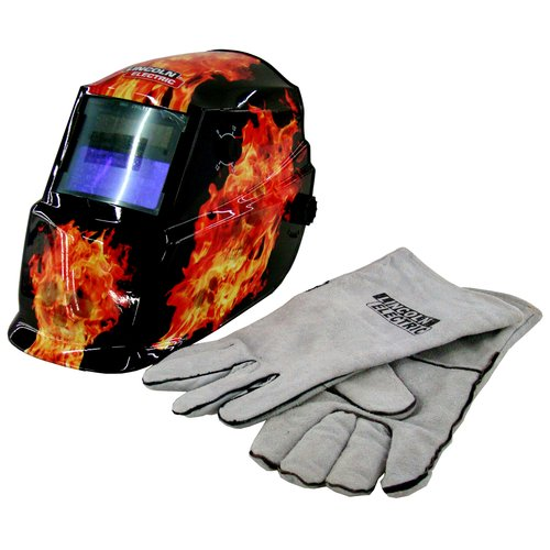 Lincoln Electric Variable Shade 9-13 Flame Helmet