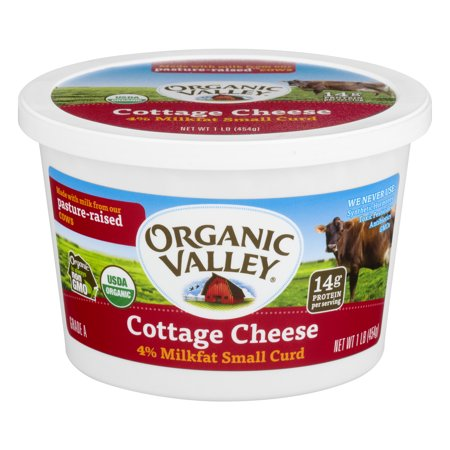Organic Valley 174 Small Curd 4 Milkfat Cottage Cheese 16 Oz
