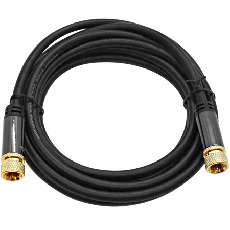 Seismic Audio 10 Foot Digital Audio Video Coaxial Cable - Premium Coax AV Cord F Type Male Pin - SA-DCAVC01-10 Premium Digital Coax