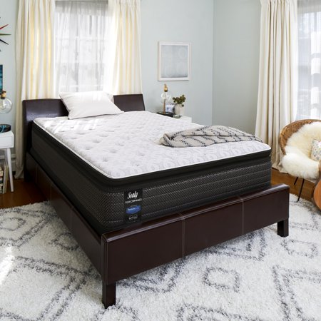 """Sealy Response Performance 13.5"""" Plush Euro Pillowtop Mattress - In Home White-Glove Delivery Included"""