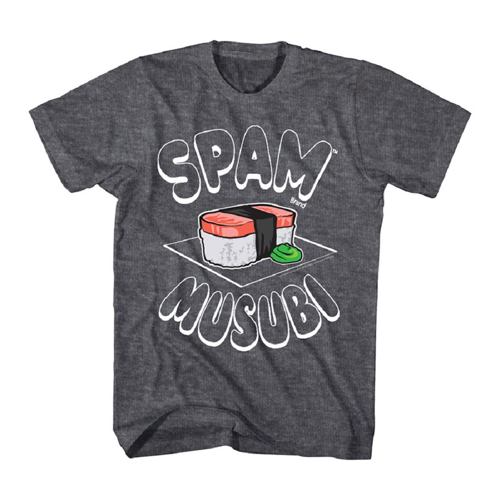 Canned Hormel can of Spam Musubi meat food wasabi Adult T-Shirt Tee