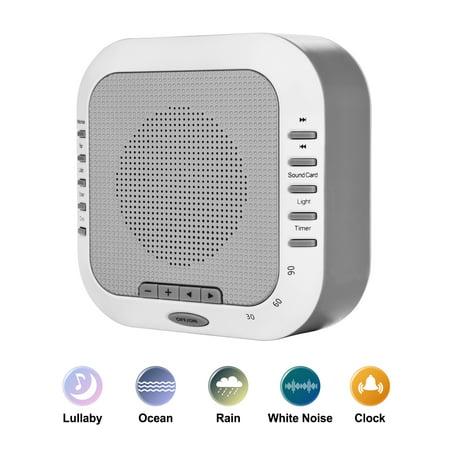 Hk White Noise Machine  Sleep Sound Machine  Sound Therapy Machine W  Bedside Light   Natural Sound