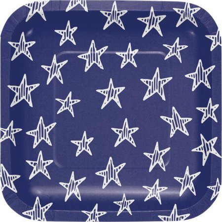 Creative Converting Festive Flag 4th Of July Dessert Plates, 8 ct](Fourth Of July Plates)