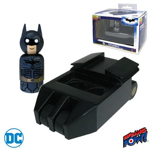 Batmobile Tumbler with The Dark Knight Batman Pin Mate Wooden Figure