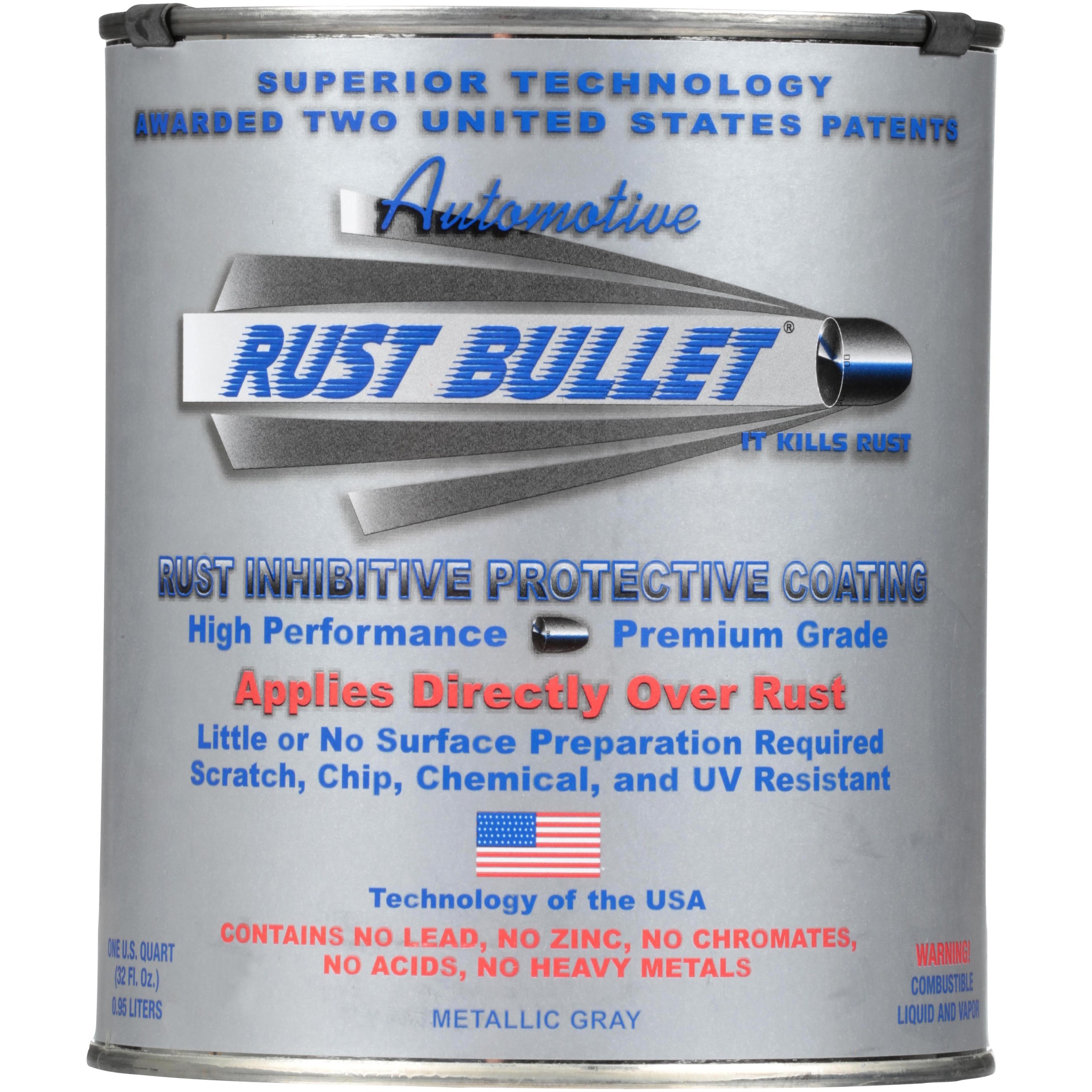 Rust Bullet® Rust Inhibitive Protective Coating 1 qt. Can