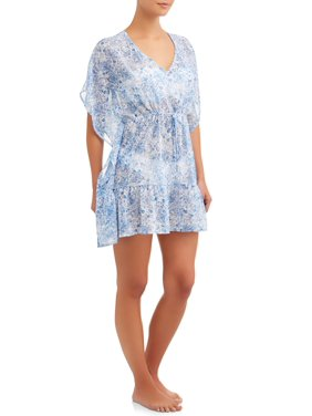 16b875d255 Product Image Women's Print Chiffon Cover-Up