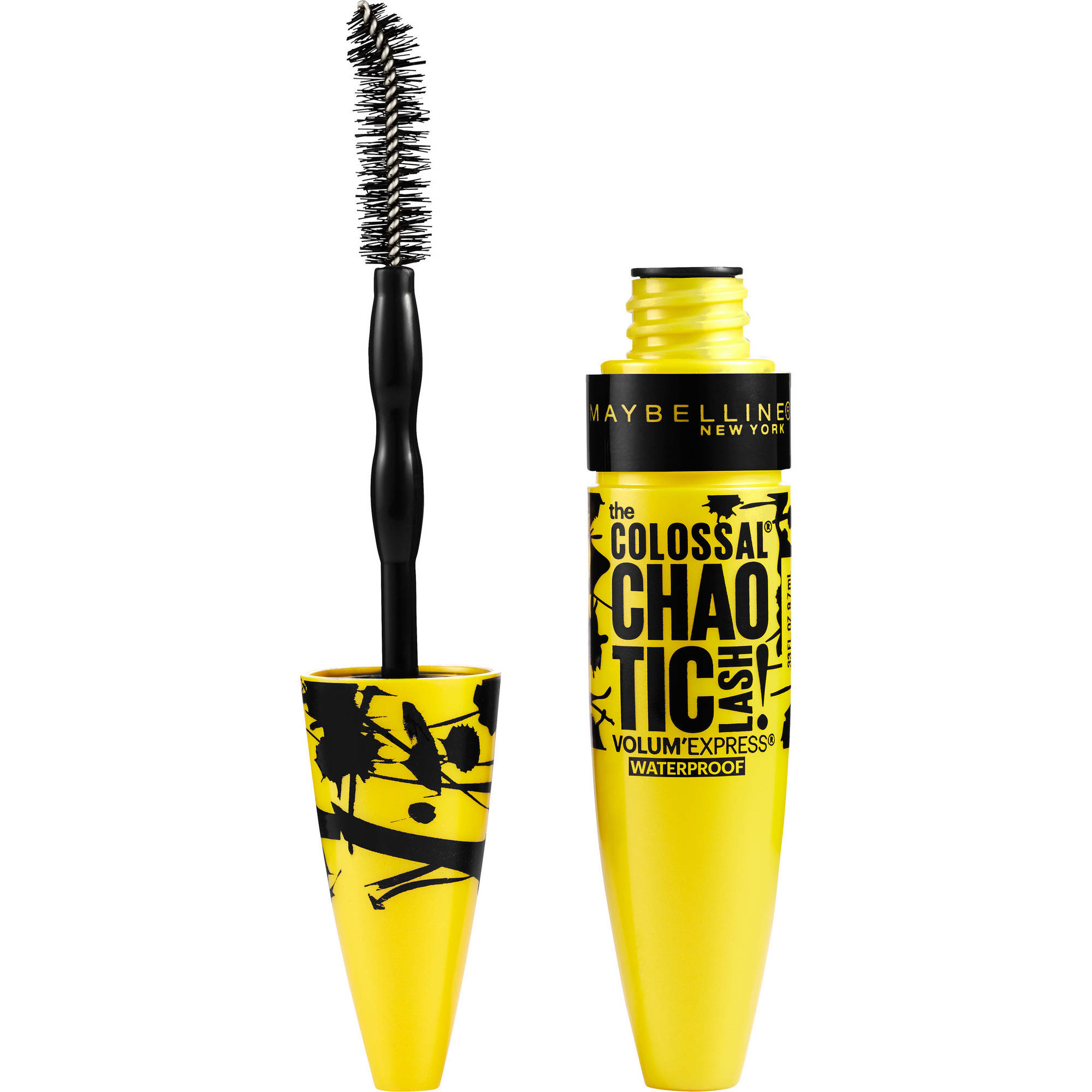Maybelline New York Volum'Express the Colossal Chaotic Lash Waterproof Mascara, 219 Blackest Black, 0.32 fl oz