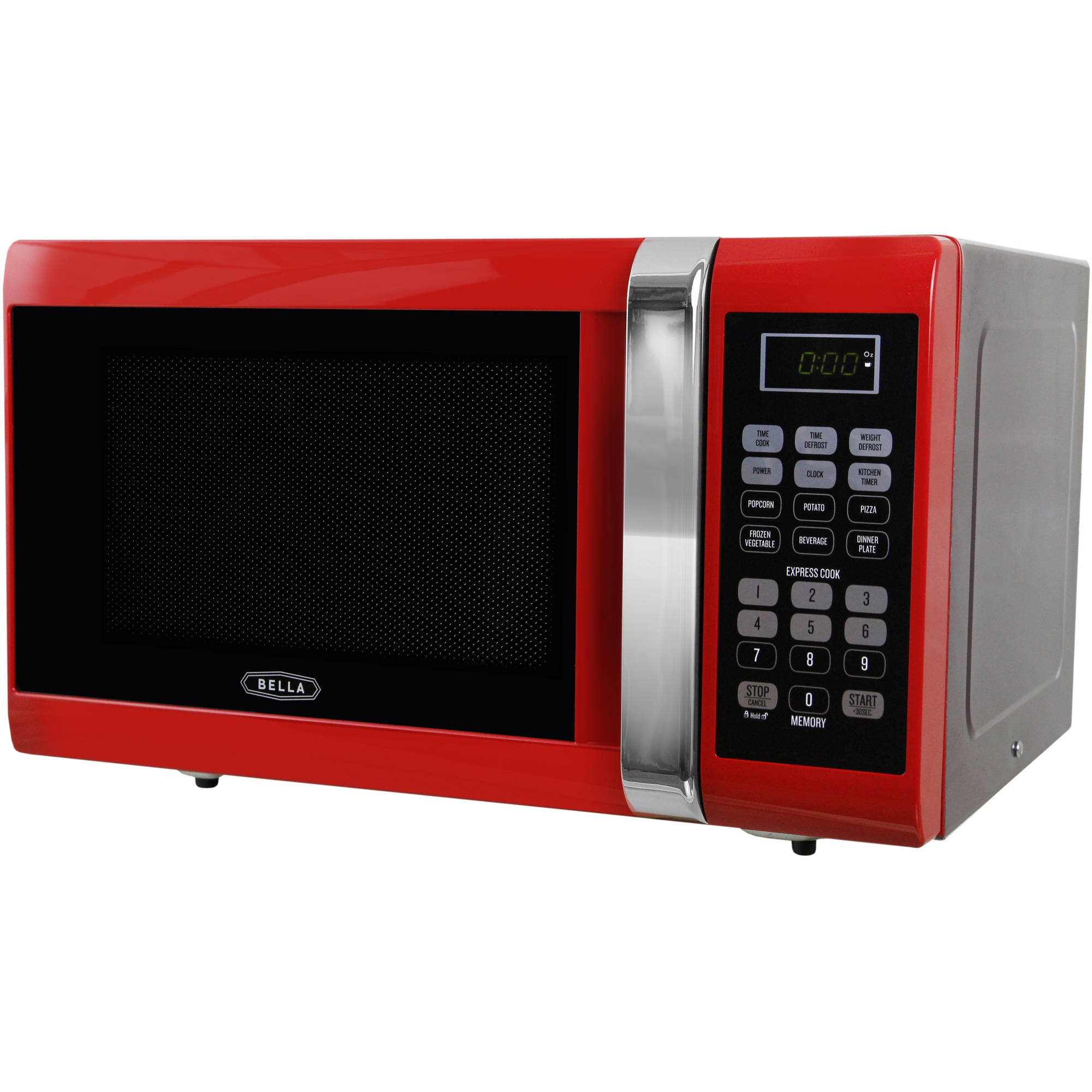 Bella bmo09aptrda 09 cubic foot 900 watt microwave oven red with bella bmo09aptrda 09 cubic foot 900 watt microwave oven red with chrome walmart sciox Images