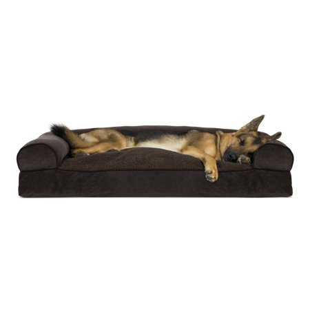 Wondrous Furhaven Pet Dog Bed Faux Fleece Chenille Soft Woven Pillow Sofa Style Couch Pet Bed For Dogs Cats Coffee Jumbo Ncnpc Chair Design For Home Ncnpcorg