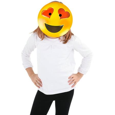 Texting Emoticon Emoji Heart Eyes Face Mask Costume Accessory