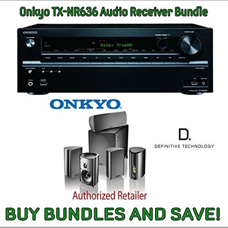 Onkyo TX-NR636 7.2-Channel Network A/V Receiver + Definitive Technology Pro Cinema 800 System Black Bundle