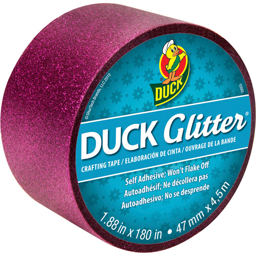 "Duck Brand Glitter Tape, 1.88"" x 180 inches, Pink"