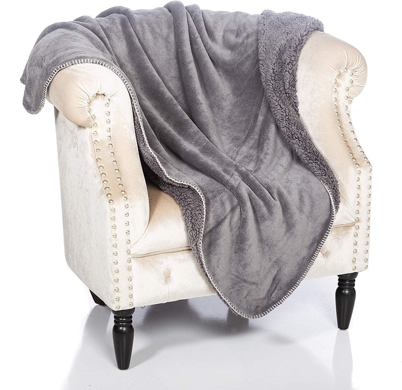 "50/""x60/""Velvet Plush Solid Soft Warm Car Home Fleece Throw Blanket Star Decor"