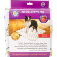 """Reusable Absorbent Potty Pad, Large, 30"""" x 32"""", 2pk, White"""