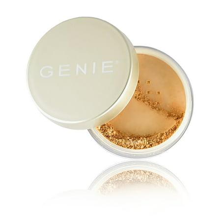 GENIE NUTRATANICALS Antioxidant Foundation (2.5g) & Small Kabuki Brush - Golden - Antioxidant Protectant Foundation
