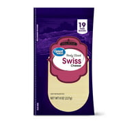 Great Value Deli Style Thinly Sliced Swiss Cheese, 6.84 Oz., 19 Count