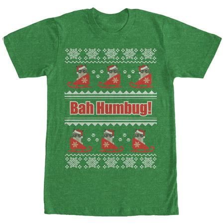Grumpy Cat Ugly Christmas Sweater.Grumpy Cat Men S Bah Humbug Ugly Christmas Sweater T Shirt