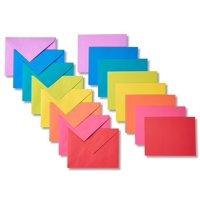 American Greetings 200 Count Blank Note Cards and Envelopes, Rainbow