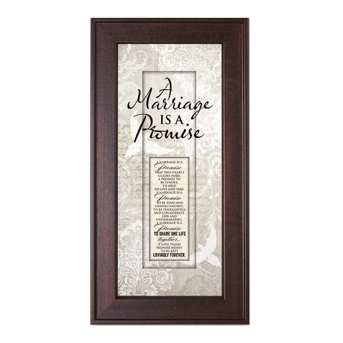 The James Lawrence Company Marriage Promise Framed Graphic Art