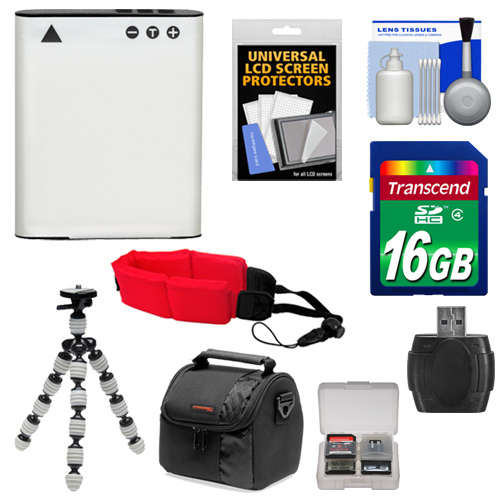 Essentials Bundle for Olympus TOUGH TG-3 & TG-4 iHS Camera with Li-90B Battery + 16GB Card + Case + Tripod + Floating Strap + Accessory Kit