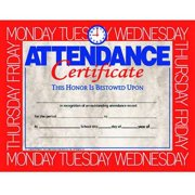 Hayes Attendance Certificate, 11 x 8-1/2 inches, Paper, Pack of 30