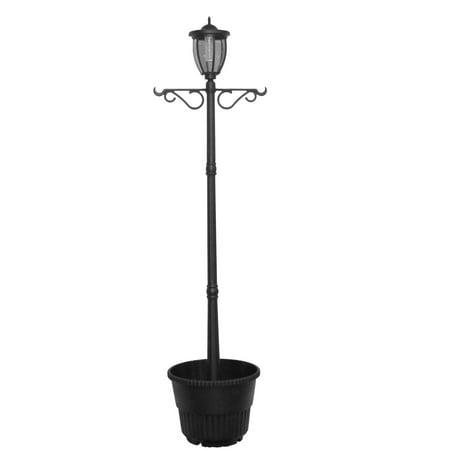 Sun-Ray Kenwick Solar Lamp Post and Planter](Lamp Post Decorations)