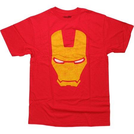 Iron Man Vintage Big Mask T-Shirt - Iron Big And Tall Shirts