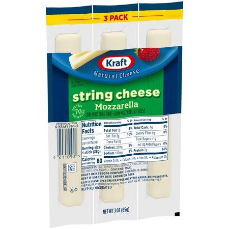 Kraft Mozzarella String Cheese, 3 ct - 3.0 oz Packageed