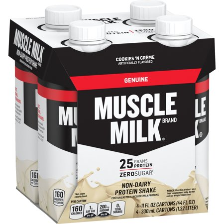 Muscle Milk Genuine Protein Shake, 25g Protein, Cookies 'N Creme, 11 Fl Oz, 4 Count